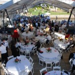 Maple Spring Lake Side Inn wedding tent on Chautauqua Lake