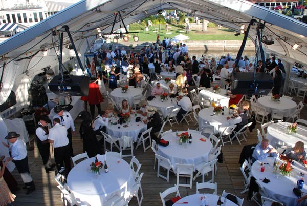 Maple Spring Lake Side Inn wedding tent on Chautauqua Lake
